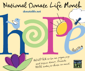 National Donate Life Month 2012