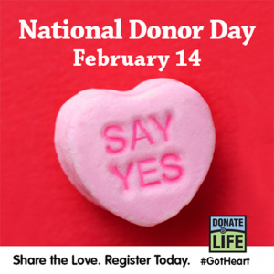 Image result for national donor day 2018