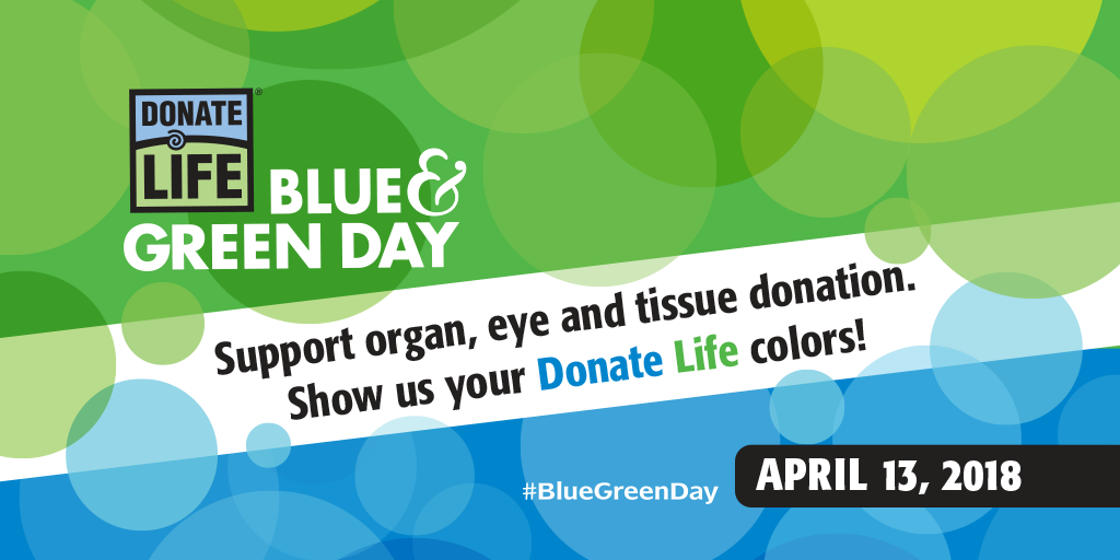 national blue and green day donate life