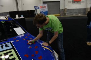Joey Gase Signing Car