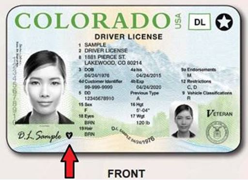 Front Drivers License - 2016 Donor Alliance Co