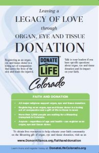 Faith and organ and tissue donation