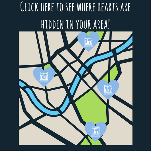 Show Your Heart Locations Map Donor Alliace