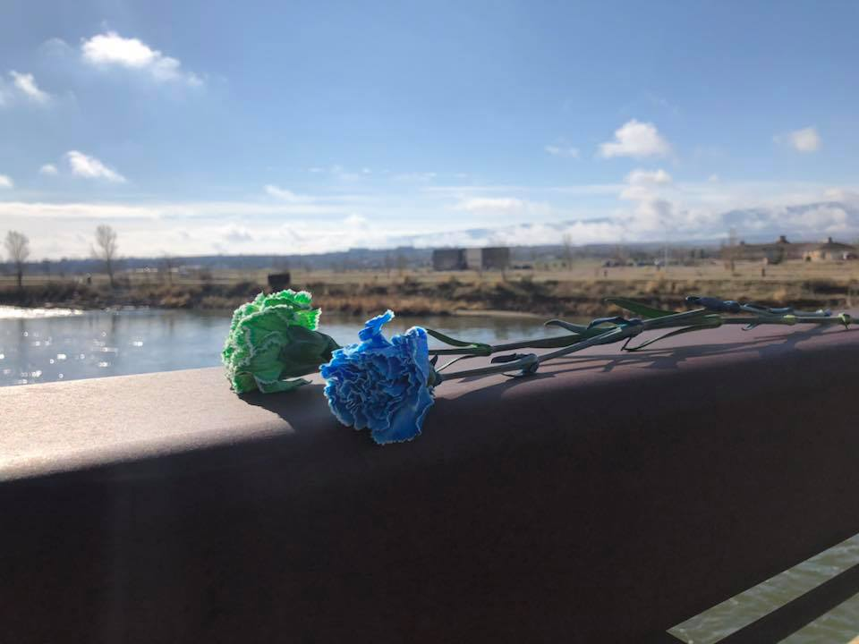 blue_green_carnations_memorial_wyoming_donor_dash_tate_pumphouse_north_platte_river