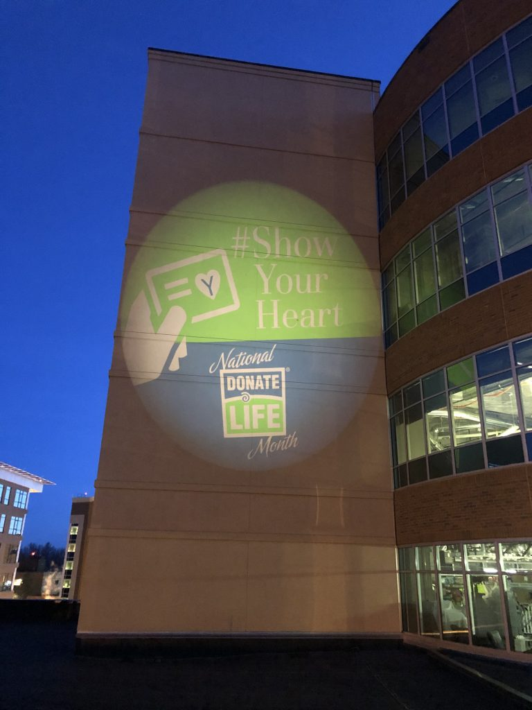#ShowYourHeart light at Memorial Hospital in Colorado Springs