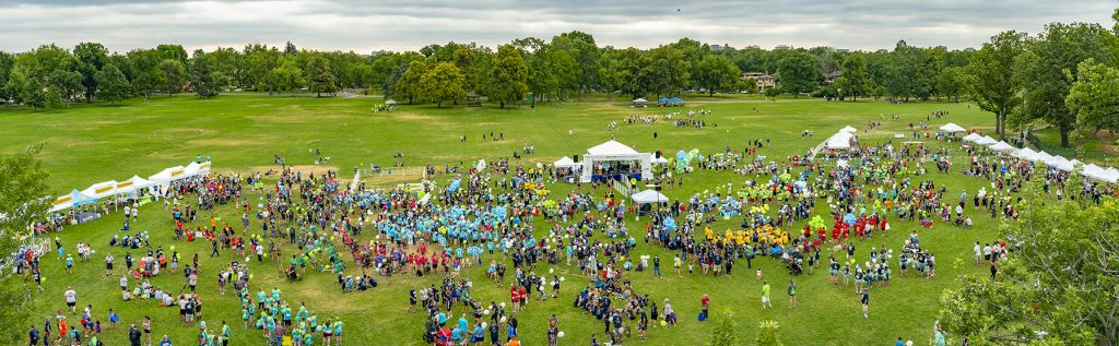 Donor Dash 2018 aerial photo