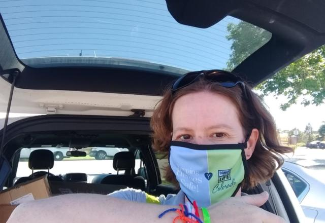 Staying safe with masks and temp checks on all of our stops!